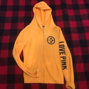 newest fc19a d94b2 PINK NFL Pittsburgh Steelers Hoodie With Glitter